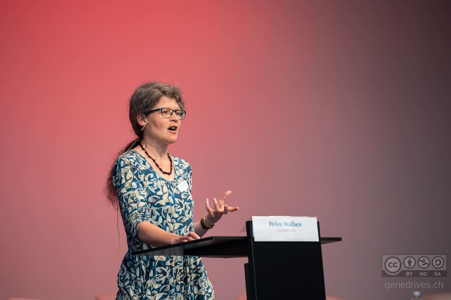 Helen Wallace speaks at the GeneDrive Symposium 2019.