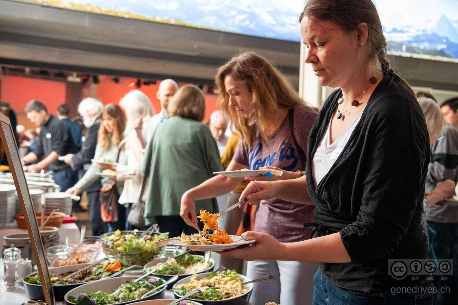 Organic lunch at the GeneDrive Symposium 2019